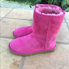ugg womens boots pink 78 ugg shoes ugg womens boots size us 6 pink fur