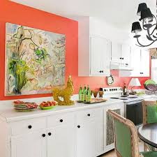 decorating kitchen with coral color decorating ideas with coral