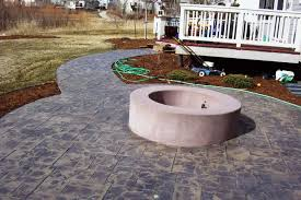 Concrete Firepit Mcclurg Patio With Pit And Walkway Norris Concrete