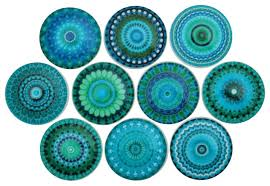 Turquoise Cabinet Turquoise Mandala Cabinet Knobs 10 Piece Set Eclectic Cabinet