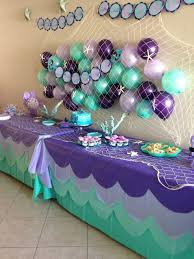 interesting decoration purple and teal baby shower decorations