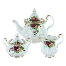 royal albert old country roses fine bone china 3 piece set