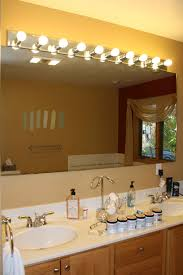 Above Mirror Lighting Bathrooms Bathroom Bathroom Lights Above Mirror With Marble Sink As