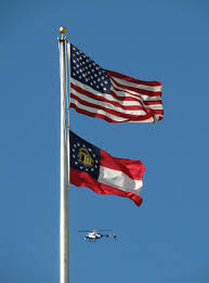 Flags Us Flags United States Free Stock Photo A Helicopter Flying By A