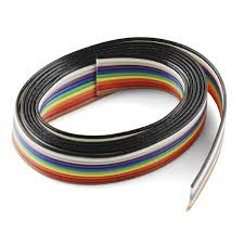 ribbon cable 10 wire 3ft cab 10649 sparkfun electronics
