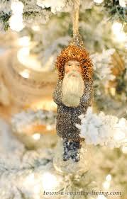 vintage santa ribbon tree decorating town country
