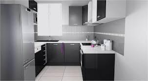 cuisine grise plan de travail noir cuisine grise et plan de travail noir plansmodernes passionn cuisine