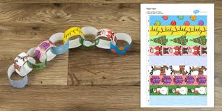 themed paper themed paper chain activity activities crafts