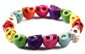bracelet skull beads images Sodial tm howlite turquoise skull beads buddhist jpg