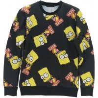 bart sweater bart simpsons mash up sleeve 3d wear sweater