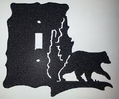 bear light switch covers light switch covers archives man cave metal