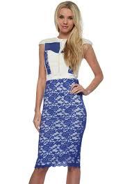 tempest hunter dress in cobalt blue lace designer desirables tempest
