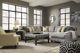 Ashley Raf Sofa Sectional Cresson Pewter Raf Chaise Sectional From Ashley Coleman Furniture