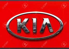 kia logo kia emblem at one of kia u0027s dealerships stock photo picture and