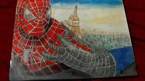 drawn spiderman pencil color pencil color drawn spiderman