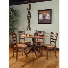 international concepts emily unfinished wood dining chair set of