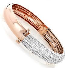 rose bangle bracelet images Ladies 14k rose gold diamond bangle bracelet 5 ct jpg