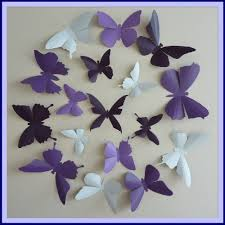 Purple Nursery Wall Decor 3d Wall Butterflies 30 Lavender Lilac Purple Plum White