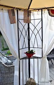 Canopy Curtains Homeroad Diy Outdoor Canopy Curtains