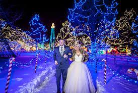 rotary lights la crosse winter wedding fur jacket blush wedding gown new years eve