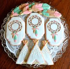 bohemian baby shower bohemian themed baby shower cookie connection