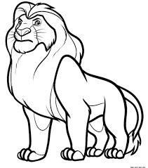 free coloring pages lion king