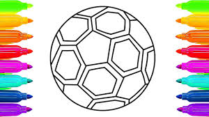 how to draw soccer ball coloring pages sport toys animation