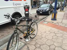 locking bikes to la parking meters is illegal but that might