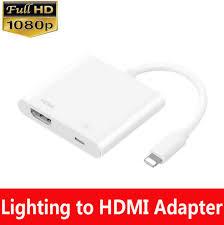 lightning digital av adapter to hdmi port apple iphone x 6s 7 8 plus md826am