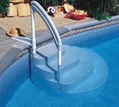 wedding cake pool steps wedding cake pool steps handrails vinyl pools pool liners service