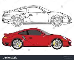 porsche vector detailed side flat red sedan car stock vector 735884419 shutterstock