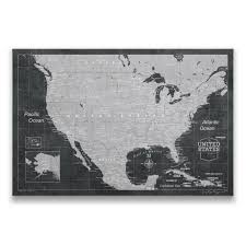 World Map Poster With Pins by Usa Travel Map Pin Board W Push Pins Modern Slate Conquest Maps