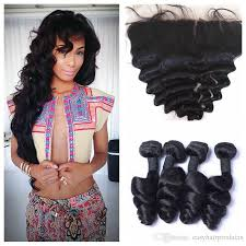 body wave vs loose wave hair extension malaysian loose wave lace frontal closure with 4 bundles