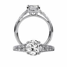 ring setting 43ct ritani classic collection diamond platinum engagement ring