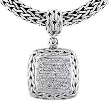 diamond necklace collection images John hardy classic chain collection pave diamond pendant necklace jpg