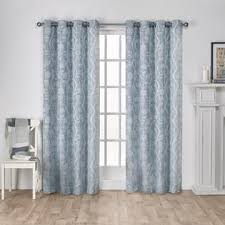 3 Panel Window Curtains Ati Home Lamont Branch And Vine Textured Linen Jacquard Grommet