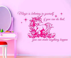 online get cheap baby quotes aliexpress com alibaba group 120x73cm unicorn with quote girls bedroom large wall art sticker classic cartoon baby wall decals adesivo de parede mural a218