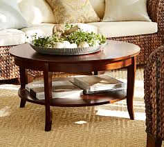 how to decorate a round coffee table for christmas chloe round coffee table pottery barn