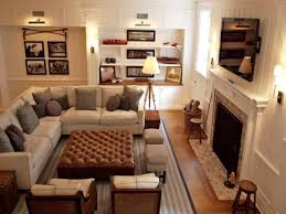 family room with sectional and fireplace how to arrange a living room with a tv centerfieldbar com