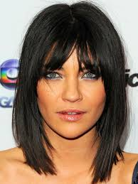 trangole face medium lenght the latest haircut the best and worst bangs for inverted triangle faces jessica