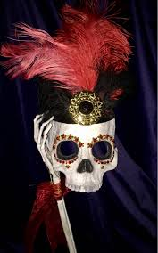 aztec sugar skull masquerade day of the dead original halloween