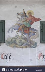 Bad Dragon Lüftlmalerei Piece Georg On The Horse Fights Against The Bad
