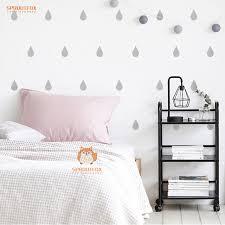 wallpaper kids bedrooms diy little raindrop wall decal stickers baby nursery bedroom