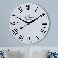 jacob white wood plank clock wood planks white wood and wall clocks