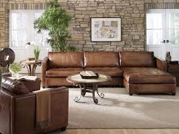 Plush Leather Sofa Leather Sectional Sofa With Chaise Sofas