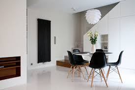 white dining table with black chairs with design photo 12977 zenboa