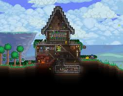 mini castle for my druid terraria