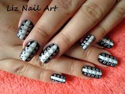 shoe lace nail design tutorial youtube