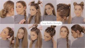 easy heatless hairstyles youtube
