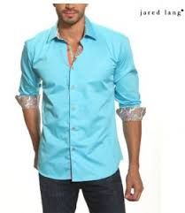 jared lang dress shirt with button up sleeve u0026 contrast details